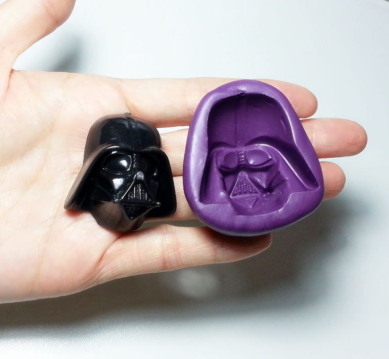 Big 3d Star Wars Darth Vader Silicone Mold 38mm Simply