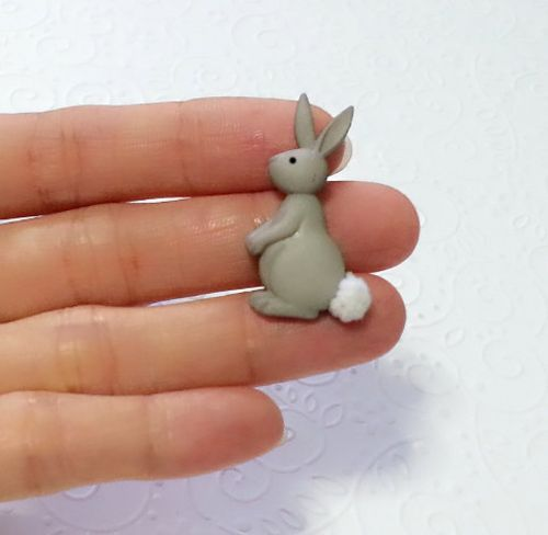 Cute Bunny Rabbit Silicone Mold 33mm Fondant Icing Pmc