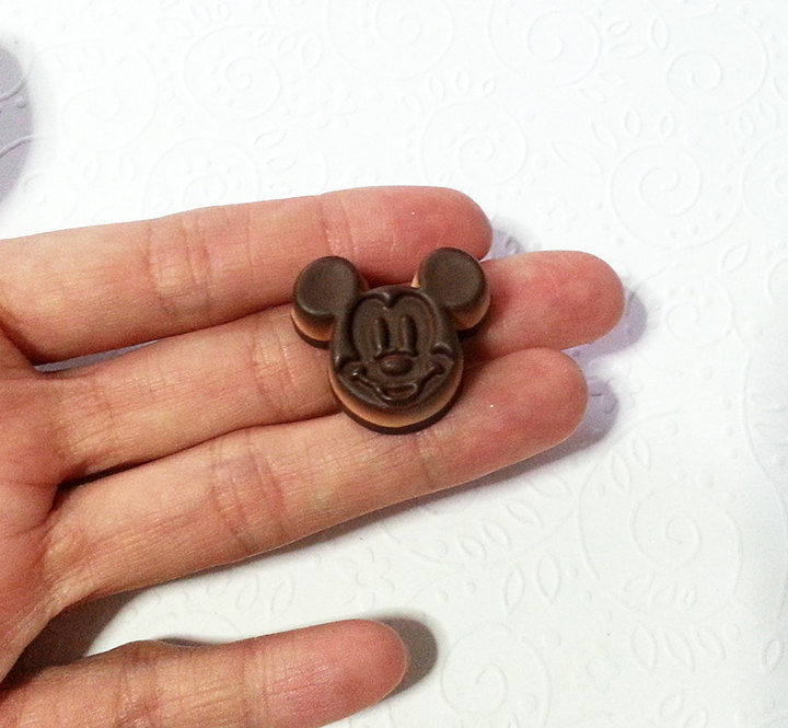 Mickey Mouse Chocolate Silicone Mold 26mm Chocolate