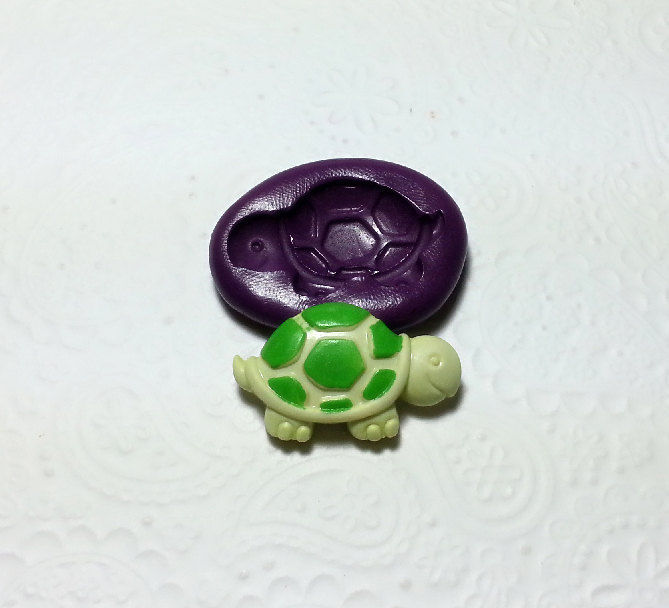 Cute Turtle Tortoise Silicone Mold Mould (31mm)