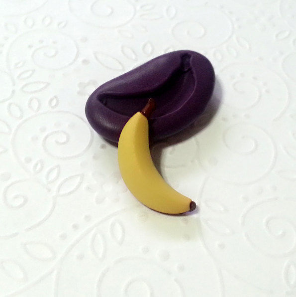 Miniature Banana Silicone Mold Mould 26mm Simply Molds