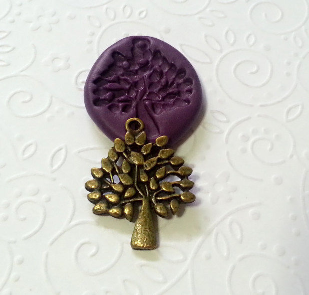 Tree Of Life Pendant Silicone Mold 30mm Pmc Clay Jewelry