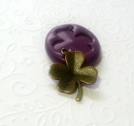 Shamrock Four Leaf Clover Silicone Mold 25mm Fondant