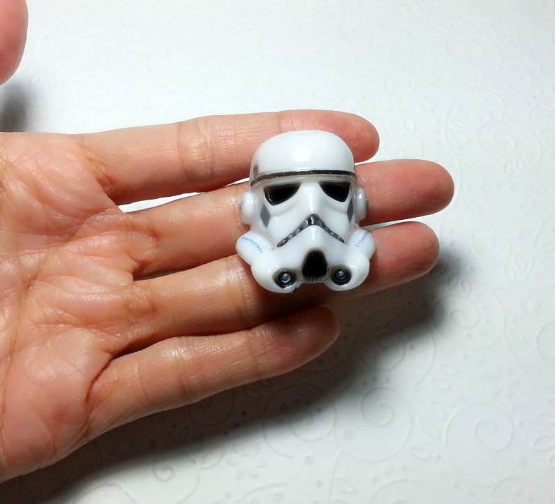 Big 3d Stormtropper Star Wars Silicone Mold 38mm