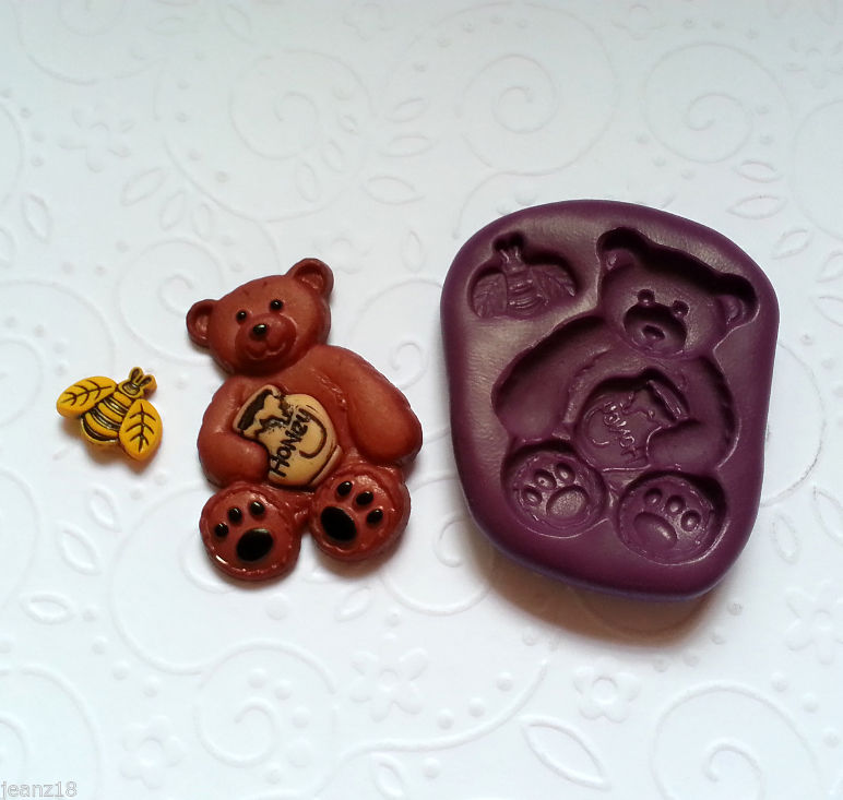Silicone Mold Honey Bear Bee 33mm Fondant Chocolate