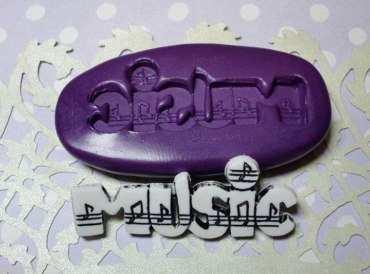 music silicone mold fondant chocolate cake decoration pop soap clay miniature simplymolds icing gum paste PMC