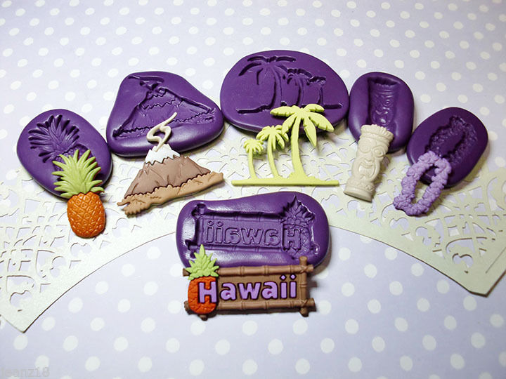 Hawaii Tiki Silicone Mold (27mm) Fondant Clay PMC Jewelry