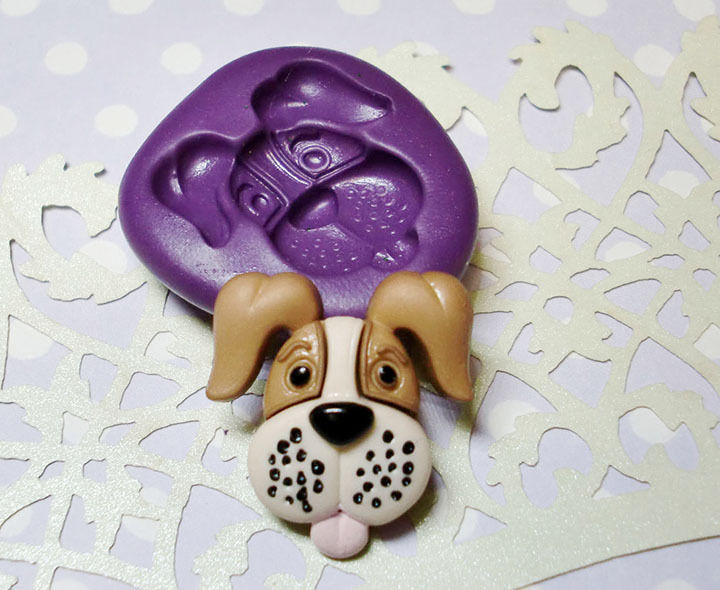 Pet Puppy Dog Face Silicone Molds Simply Molds