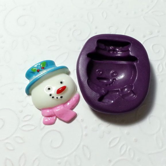 snowman silicone mold fondant chocolate cake pop soap clay dollhouse miniature simplymolds icing