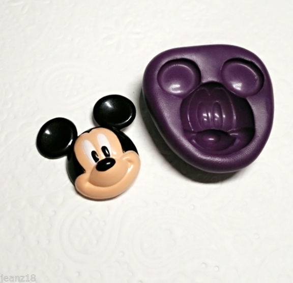 3d Mickey Mouse Silicone Mold 31mm Fondant Candy