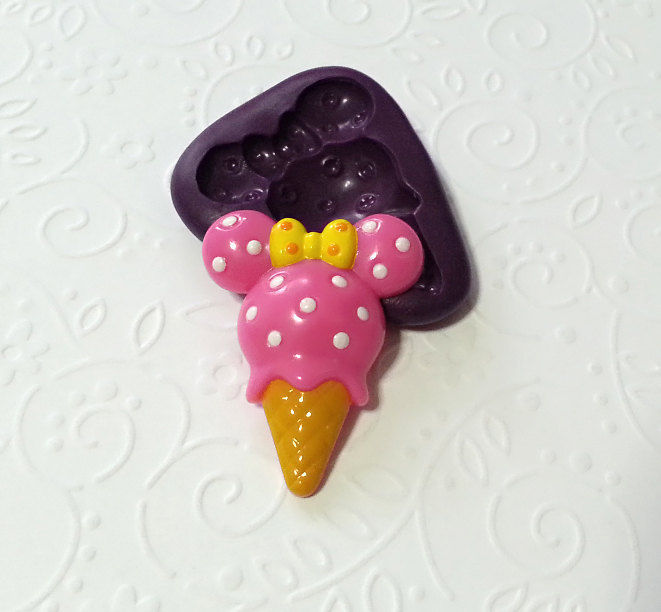 Cute Minnie Mouse Ice Cream Silicone Mold 33mm Simply
