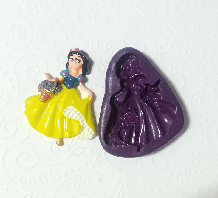 SNOW WHITE Princess Chocolate Soap Candy Mold
