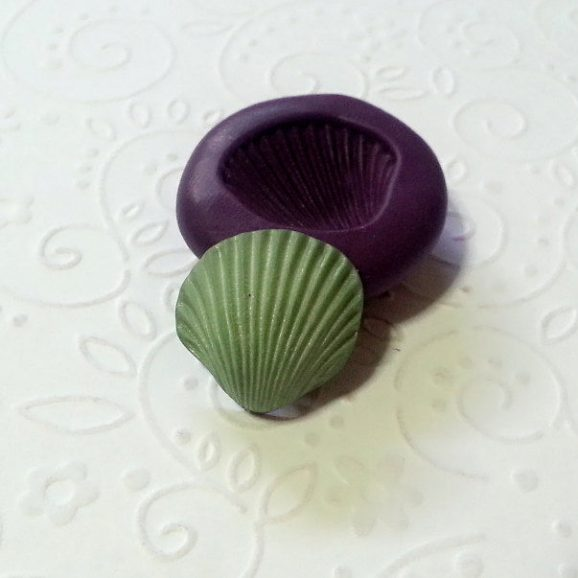 sea shell silicone mold fondant chocolate cake decoration pop soap clay miniature simplymolds icing gum paste PMC
