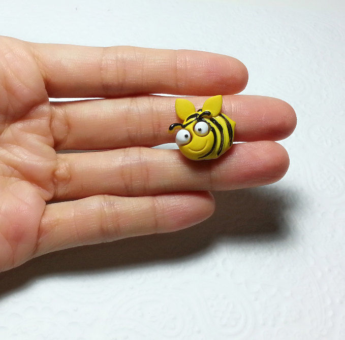 Silicone Mold Cute Bee Insect Mould 21mm Fondant Gum