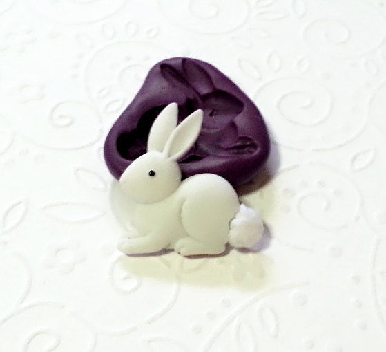 Silicone Mold Cute Bunny Rabbit Mould 29mm Cupcake