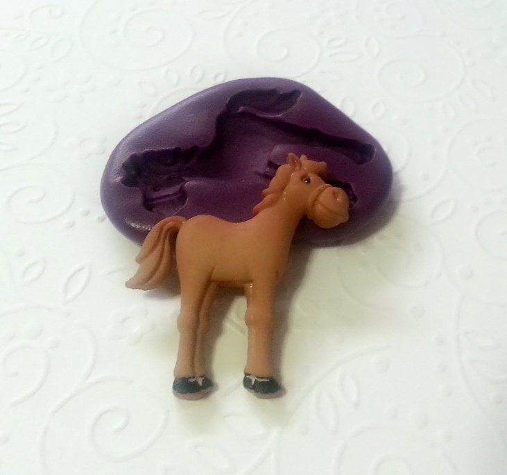 Silicone Mold Horse Pony Mould 37mm Fondant Cupcake