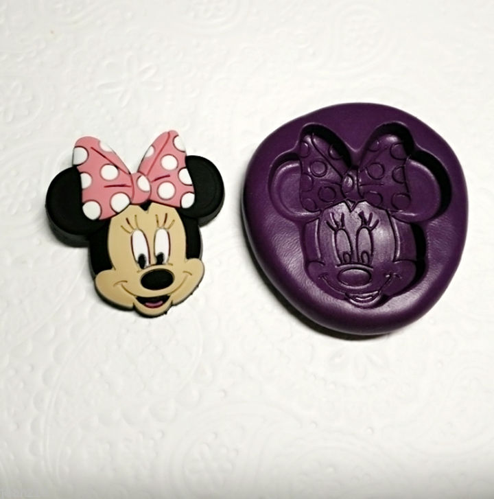 Minnie Mouse Silicone Mold 36mm Fondant Cupcake Topper