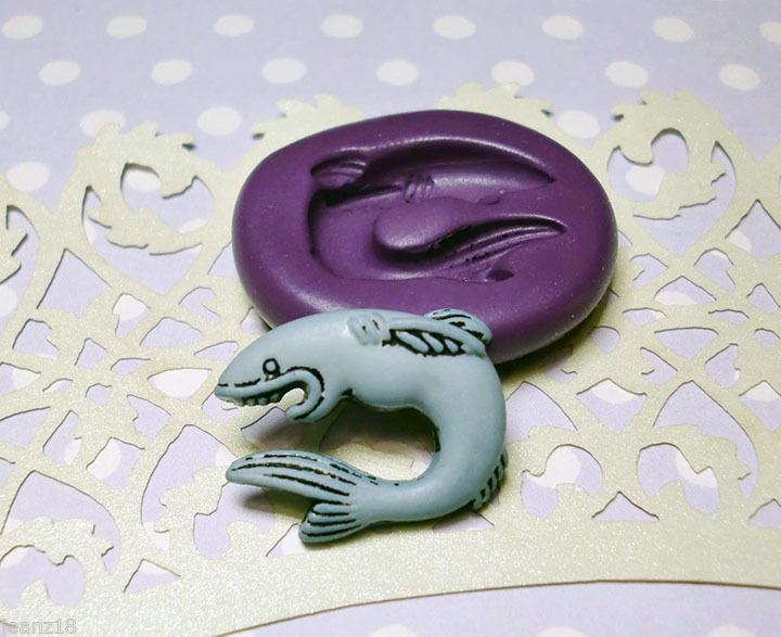 Silicone molds fishing theme set 17 57mm mini basket rod for Silicone fish molds