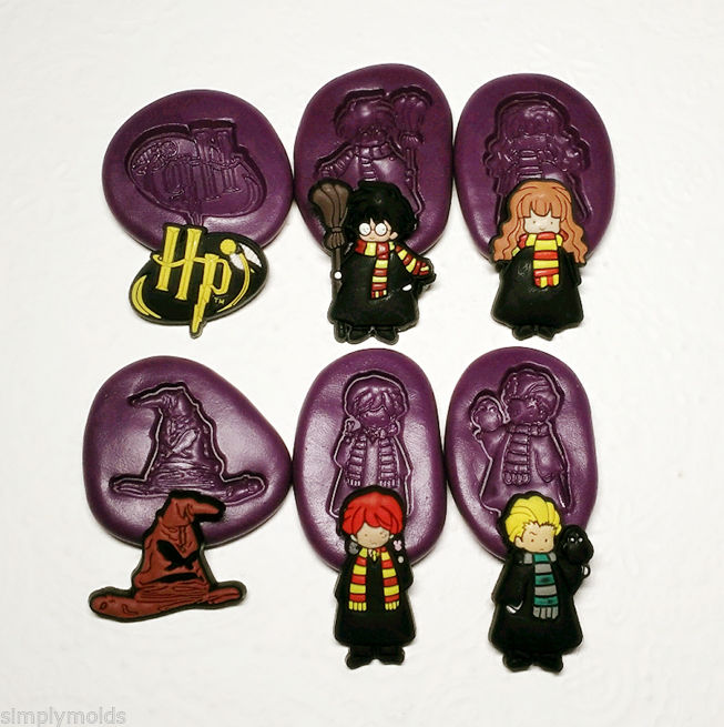 Harry Potter Chibi Silicone Molds 30mm Simply Molds