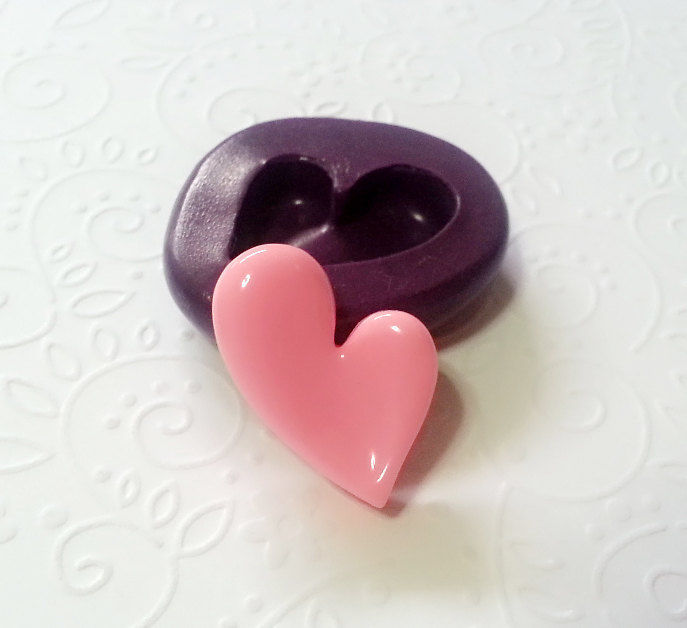 Cute Heart Mold 27mm Jewelry Mold Chocolate Mold