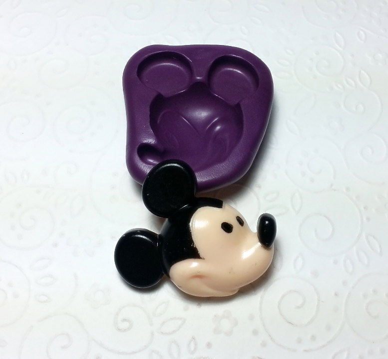 Big Mickey Mouse Face Silicone Mold Mould 40mm Simply