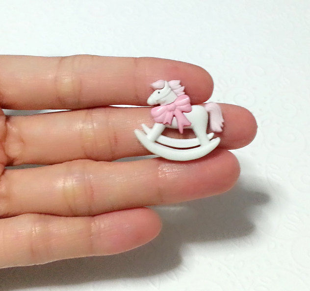 Cute Rocking Horse Silicone Mold 25mm Baby Shower