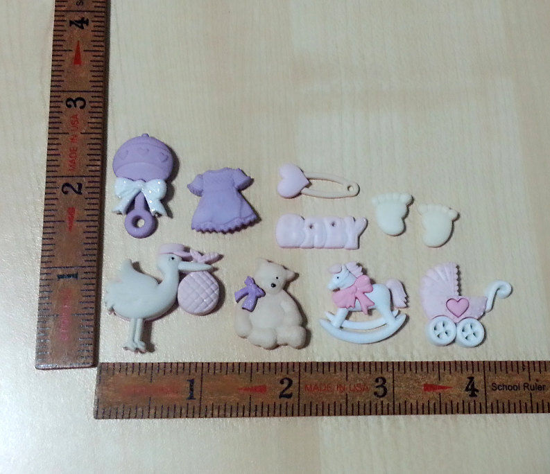 Cute Rocking Horse Silicone Mold 25mm Baby Shower Birthday